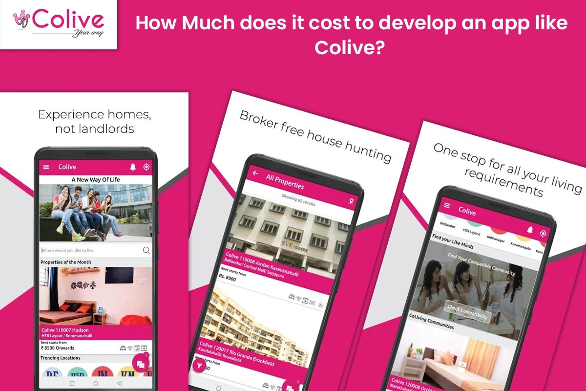 How Much Does It Cost To Develop An App Like Colive? - Mobile App Development Company