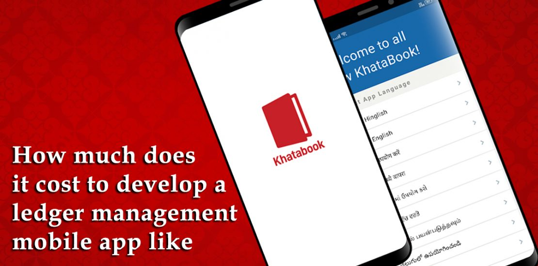 cost of a digital ledger mobile app like Khatabook