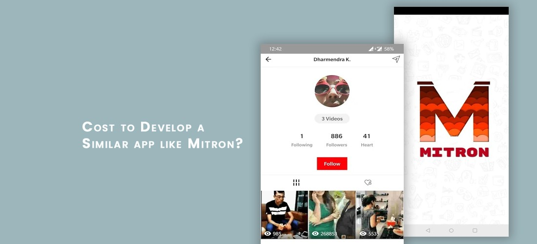 Mitron App Clone Cost