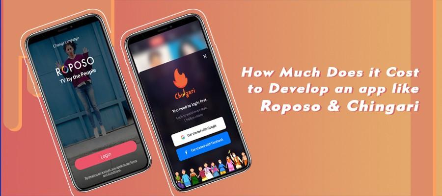 roposo chingari mobile application development cost
