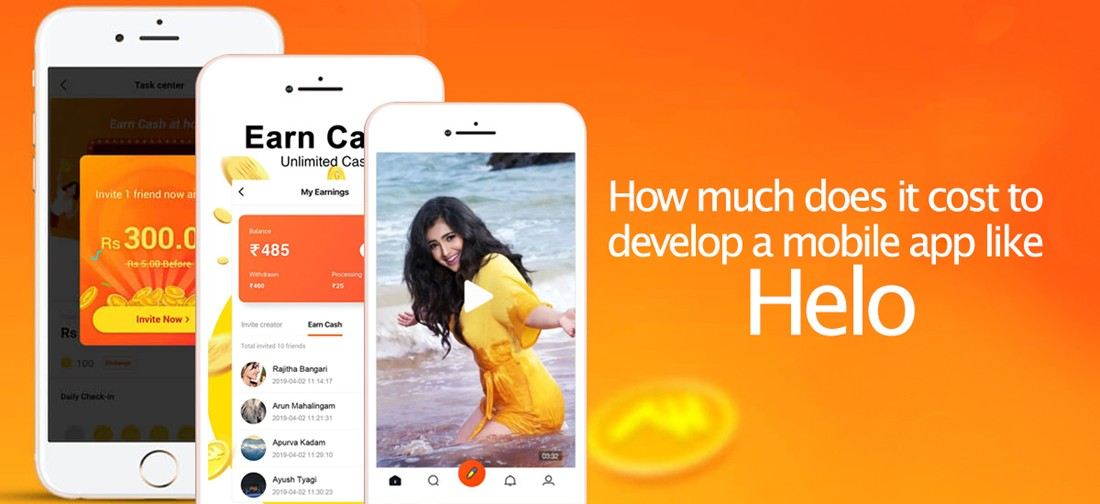 How much does it cost to develop a mobile app like Helo