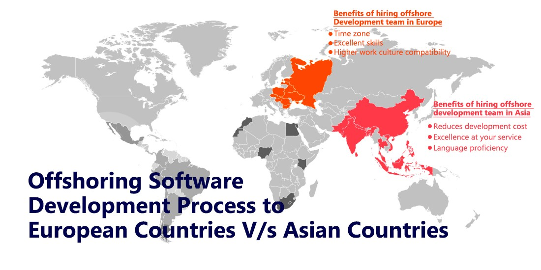 Offshoring software development process to European countries V/s Asian countries