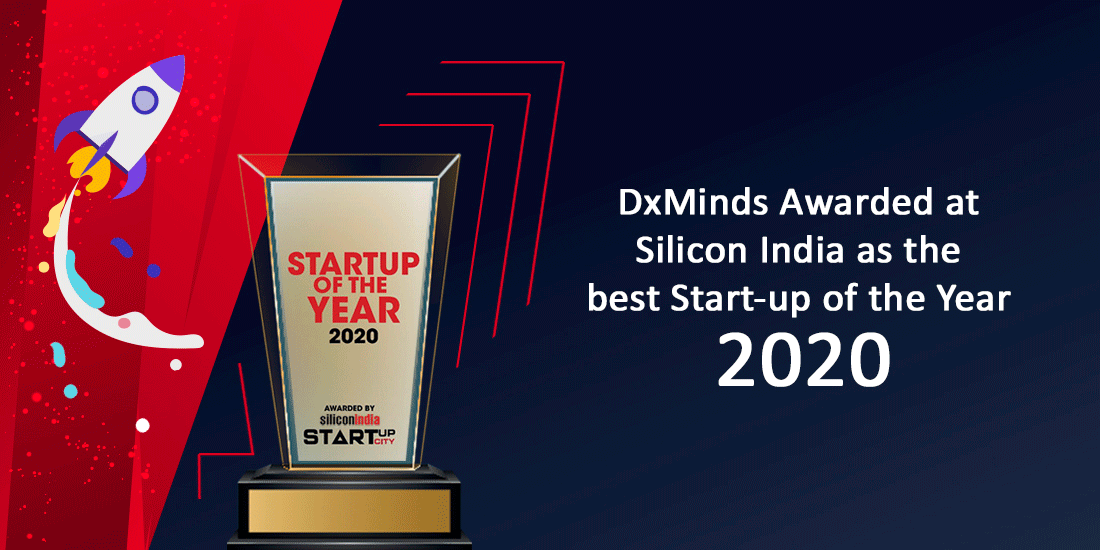 DxMinds The best start-up of the year-2020, by Silicon India